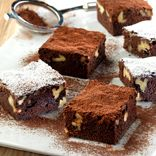 Damero de Brownies con nueces