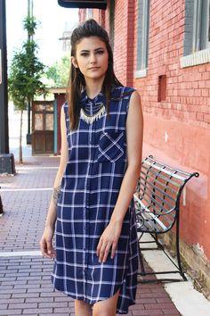 Jane Royal Blue Paid Dress