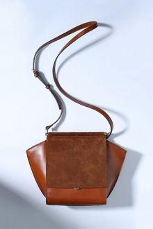 Hasp Design Leather Crossbody Bag