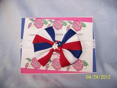 Red White and Blue Boutique Infant Bow by TurtlestonesBoutique, $4.50