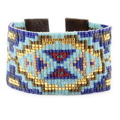 Chan Luu - Blue Mix Cuff Bracelet on Brown Leather, $220.00 (http://www.chanluu.com/bracelets/blue-mix-cuff-bracelet-on-brown-leather/)