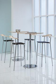 Core stackable bar stool and Slitz table design Mattias Ljunggren. #skandiform #core #slitz