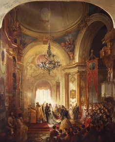 Nicholas Chevalier (1828-1902) - The Marriage of Prince Alfred, Duke of Edinburgh, 23 January 1874