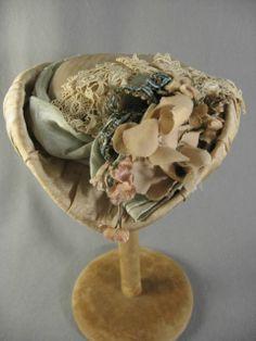 Ecru Silk Hat for an Antique Doll
