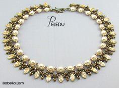 PELEDU increíble Checa las hojas y perlas collar de por bead4me