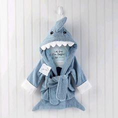 "Baby Aspen 'Let the Fin Begin' Terry Shark Robe - Blue (0-6 Months) - Baby Aspen - Babies ""R"" Us"