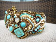 Freeform Embroidered Cuff  Turkish by leClubSecret on Etsy, $98.00<< holy crap