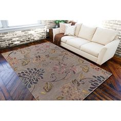 Hand-tufted 'Haines' Grey Wool Rug (5' x 8'), Size 5' x 8'