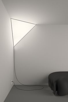 Corner light...so cool! but i would have to hide the ugly cord of course...