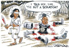 Down to Size Tell Her, A Cartoon, True Stories, African, South Africa