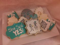 Engagement sugar cookies