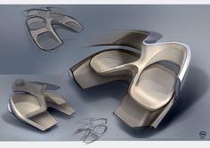Vlad Domanin Car Interior Sketch, Car Interior Design, Interior Design Sketches, Industrial Design Sketch, Interior Rendering, Interior Concept, Interior Photo, Automotive Design, Transportation Design