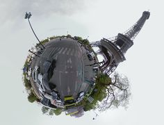 """Street View Stereographic is a fun little web app that creates a """"little planet"""" (i.e. stereographic projection) using the photos from any Google Street Vi"""