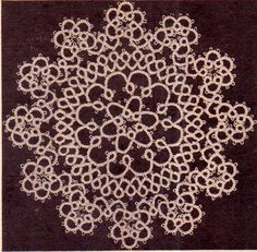 Genuine Vintage 1960s 'Ultra-Lacy Set of '2' Victorian SNOWFLAKE Doilies' Tatting Pattern PDF Vintage Knitting, Baby Knitting, Tatting Patterns, Crochet Patterns, Victorian Design, Retro Home Decor, Crochet Doilies, Beautiful Patterns, Rose Buds