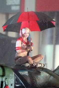 Margot Robbie 'Harley Quinn' Suicide Squad Set Photos --Be your own Whyld Girl with a wicked tee today! http://whyldgirl.com/tshirts