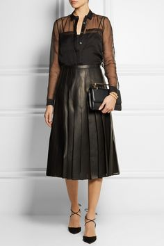 Burberry London | Silk-organza shirt | NET-A-PORTER.COM