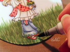 Color Me Copic: Kim's ~ Grass Colouring Tutorial Copic Pens, Copic Art, Copics, Colored Pencil Tutorial, Colored Pencil Techniques, Copic Markers Tutorial, Paper Art, Paper Crafts, Coloring Pages