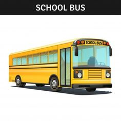 Buy School Bus Design by macrovector on GraphicRiver. Yellow empty school bus design with title realistic vector illustration. Editable EPS and Render in JPG format