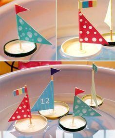 Nos encanta esta idea para hacer barcos flotantes... ¡totalmente gratis! Recicla las tapas de tus jarrones o potes.