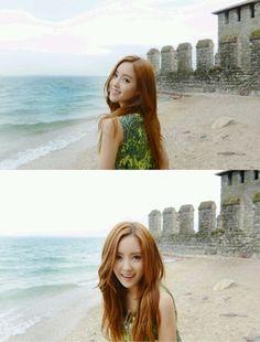 T-ara's Hyomin spends time at the beach #allkpop #kpop #TARA #Hyomin