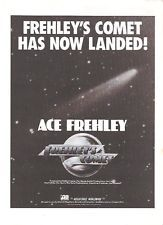 ACE FREHLEY'S COMET has landed(KISS) 1985 UK magazine ADVERT/Poster 11x8 inches