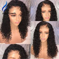 Alipearl Curly Lace Front Human Hair Wigs For Black Women 99j Wig 130 150 180 250 Density Brazilian Wig Pre Plucked Two Colors Exquisite Craftsmanship; Hair Extensions & Wigs