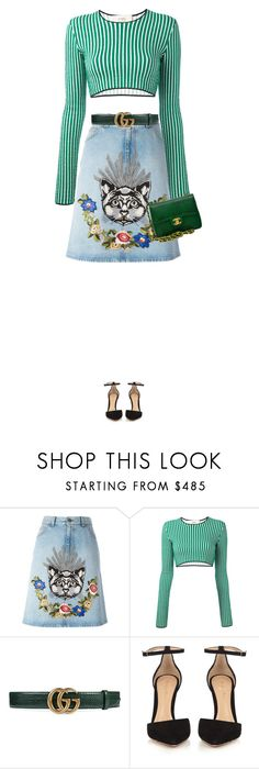 """""""Untitled #1520"""" by joaomaria-garcia ❤ liked on Polyvore featuring Gucci, Ports 1961, Gianvito Rossi and Chanel"""