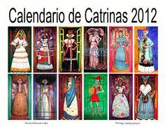 calendario-de-catrinas-2012 by PASTRE Julien via Slideshare