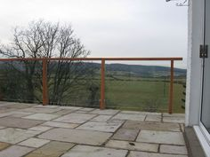 glass balustrade timber handrail - Google Search