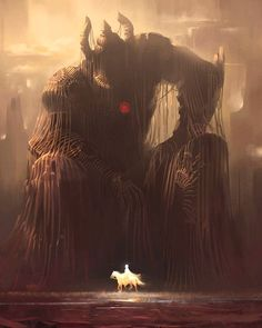 The tired Titan . Great art by Harshanand Singh Dark Fantasy Art, Fantasy Concept Art, Fantasy Kunst, Fantasy Character Design, Fantasy Artwork, Fantasy World, Dark Art, Character Art, Fantasy Monster