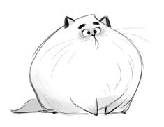 419: Silly FloofToday was stressful, so I wanted to draw a funny floofy cat. | dailycatdrawings tumblr