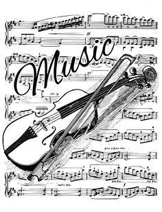 Freebie .... Violin and Music Sheet