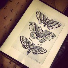 about moth tattoo on Pinterest | Moth tattoo Traditional tattoo ...