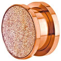 Rose d'or anodisé bouchons d'oreille par JewelryAvalanche sur Etsy