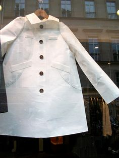 Parisian window display: Paper outfits 3 by julieboothclasses, via Flickr