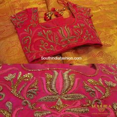 Beautiful maggam embroidered blouse designs for kanjeevaram silk sarees by Soucika. For inquiries contact: info@soucika.com Address: #990/1, 12th main, 1st cross, HAL 2nd Stage, Indira Nagar, Bangalore Phone: +91-9742737935/ 080-41637631 Related PostsMaggam Work Blouse DesignsBeautiful Maggam Work Blouse for Wedding SareesBeautiful Blouse Designs for Wedding Silk SareesMaggam Work Wedding Blouse Designs