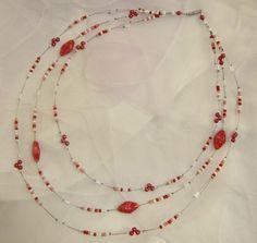 """Feines Rot"" Chain, Jewelry, Neck Chain, Beads, Red, Schmuck, Jewlery, Bijoux, Chains"