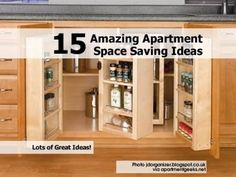 15 Amazing Apartment Space Saving Ideas - fold out pantry and knife storage Small Apartment Design, Small Apartments, Small Spaces, Knife Storage, Locker Storage, Smart Storage, Amazing Spaces, Interior Design Tips, Interior Ideas