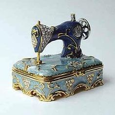 Blue Sewing Machine Trinket Box $39.95 www.Cute-Boxes.com