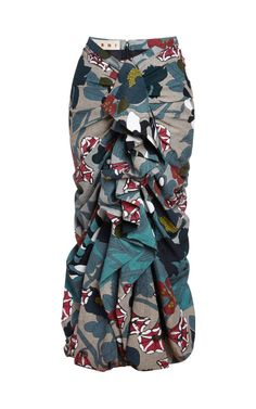 Good! I just LOVE Marni! Ruched and Ruffled Cloqué Long Skirt by Marni -
