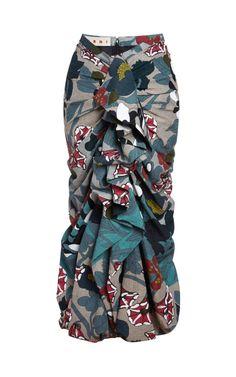 Good! I just LOVE Marni! Ruched and Ruffled Cloqué Long Skirt by Marni -