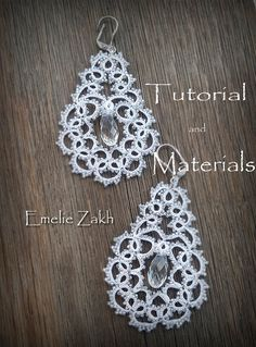 Create an elegant pair of earrings by using bead tatting techniques. Skill…