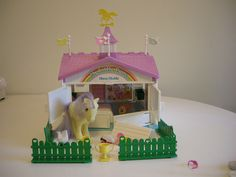 My Little Pony Show Stable  I used to make my hamsters play in this