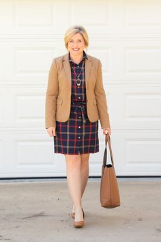 Savvy Southern Chic: How to wear plaid to the office- 9 to 5 Style