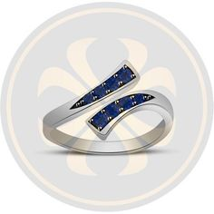 Blue Sapphire 925 Sterling Silver Bypass Adjustable Toe Ring Fashion Jewelry #parasexports