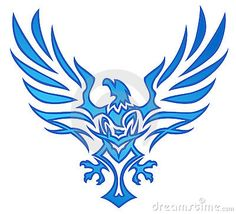 Blue flame eagle tattoo as inspiration for phoenix tattoo.