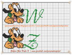 Apaixonada por Ponto Cruz: Monograma Pluto