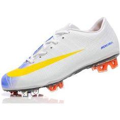 11f8ed24c67 Sale Nike Mercurial Vapor VI Superfly II FG Soccer Shoes White Blue Yellow