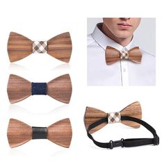Wood Gift Box, Wooden Bow Tie, Wood Bracelet, Butterfly Wedding, Leather Pattern, Types Of Shoes, Handmade Wooden, Types Of Fashion Styles, Groomsmen