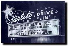 drive-in movie signs | Pacific Drive-In Theatres hired sign painters to decorate the roadside ...